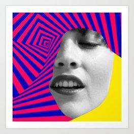 Optical Portrait Art Print