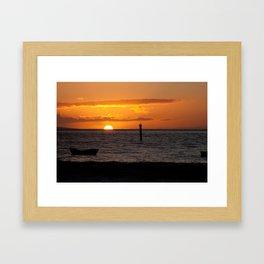 Orange Maui sunset Framed Art Print