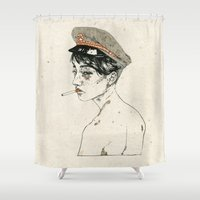bitch Shower Curtains featuring Bad Bitch #2 by NVM Illustration