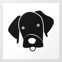 labrador Art Prints featuring Labrador by anabelledubois