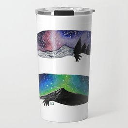 GALAXY STARRY NIGHT AXOLOTL ARTWORK Travel Mug