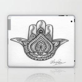 Hamsa hand Illustration (Evil Eye) protection/good luck - By Ashley Rose Standish Laptop & iPad Skin