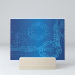 Simple Mechanical Engineering Mini Art Print