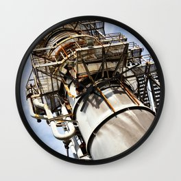 Gas scrubber used for blasting furnace Wall Clock