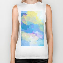 Colorful Abstract - blue, pattern, clouds, sky Biker Tank