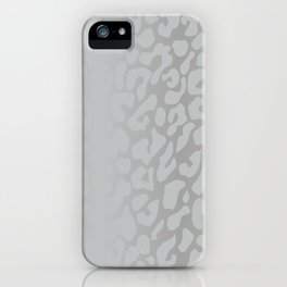 White Silver Leopard Print iPhone Case