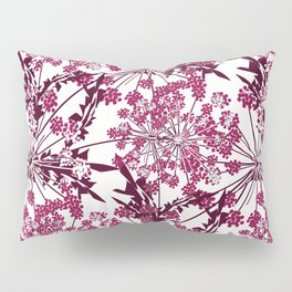 Laced crimson flowers on a white background. Pillow Sham