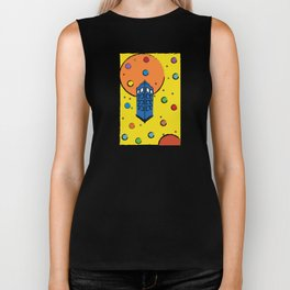 Pop Art Tardis Biker Tank