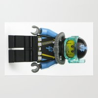 scuba Area & Throw Rugs featuring Another SCUBA Minifig by Jarod Pulo