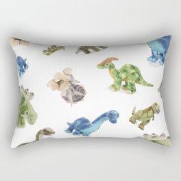 Dinosaur Blue Gree Brown Pattern Rectangular Pillow