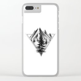 NORTHERN MOUNTAINS II Clear iPhone Case