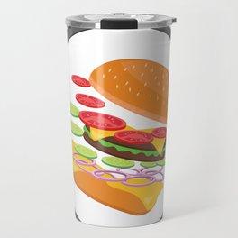 Awesome Burger falling down - I love Burger Travel Mug