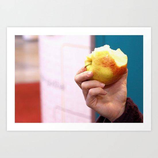 Bite the apple Art Print