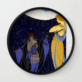 """Art Deco Design """"Nocturne"""" by Erté Wall Clock"""