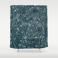 lace Shower Curtains featuring Lace by By Myyna