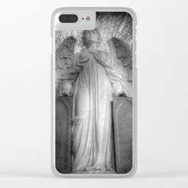 Angel Watching Over You Clear iPhone Case