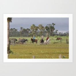 Amazon Cowboys Art Print