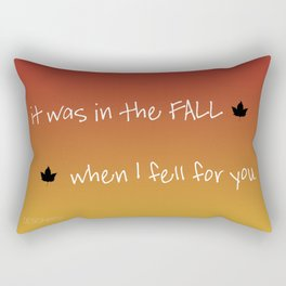 Snuggle In - inspired by 'The Fall' lyric video Rectangular Pillow