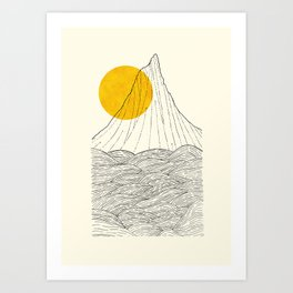 The tall cliff by the sea Art Print