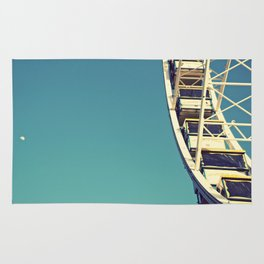 The sky, the moon and the Ferris Wheel Rug