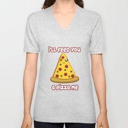 Eat Me Pizza Unisex V-Neck