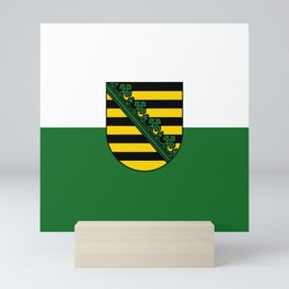 flag of Sachsen (historic state) Mini Art Print