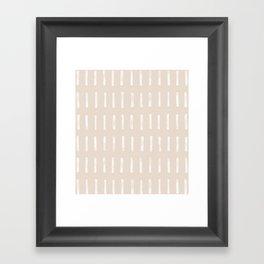 dash blush Framed Art Print