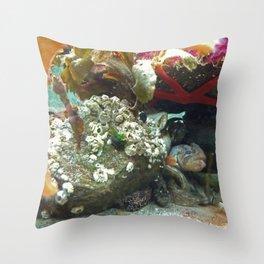 Sea creatures  Throw Pillow