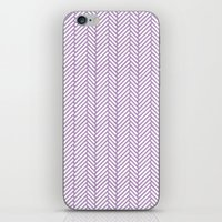 herringbone iPhone & iPod Skins featuring Herringbone Orchid by Project M