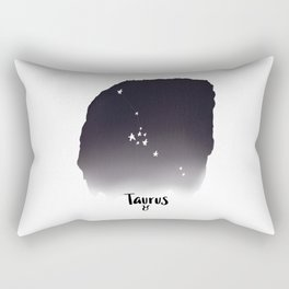 Taurus Star sign, Constellation, Astrology, Horoscope, Zodiac Grey Watercolor Rectangular Pillow