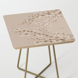 Cherry Blossom in Taupe Side Table