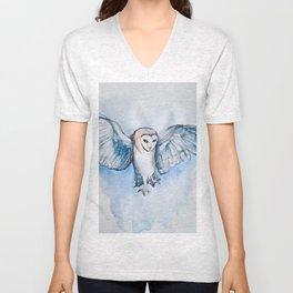 Watercolor owl Unisex V-Neck