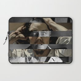 "Gustave Courbet ""The Desperate Man"" Self Portrait & James Stewart in Vertigo Laptop Sleeve"