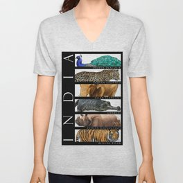 Animals of India Unisex V-Neck