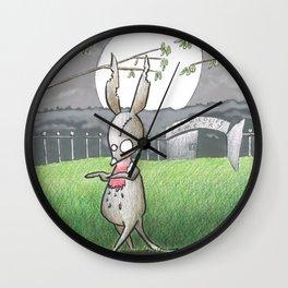 Zombilby (Zombie Bilby) Wall Clock