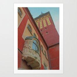 Subotica city hall detail #2 Art Print