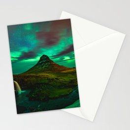 Lights over Kirkjufell Stationery Cards
