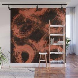 Kleinspir, Abstract, Orange Flamengo Wall Mural