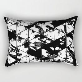 Splatter Triangles - Black and white, abstract, paint splat, triangular pattern Rectangular Pillow