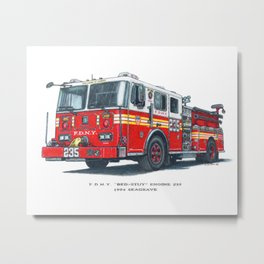 FDNY Bed-Stuy Engine 235 Metal Print