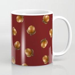 Acorn Pattern-Maroon Coffee Mug