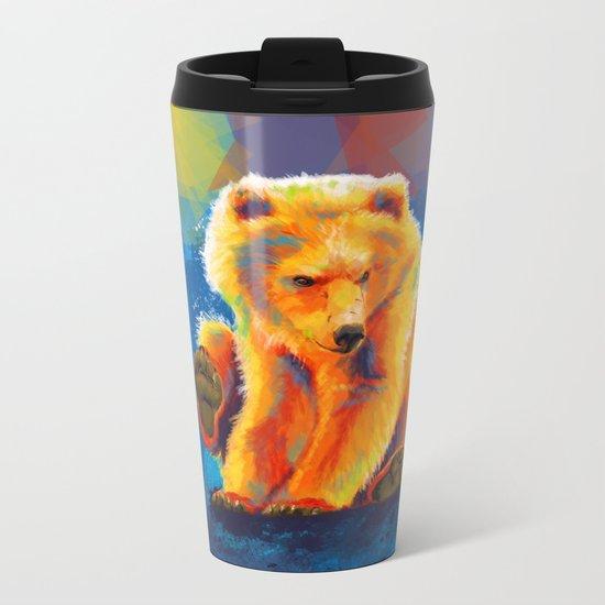 Play with a Bear Metal Travel Mug