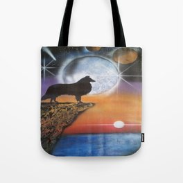 A Collie New Dawn Tote Bag
