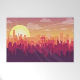 Brooklyn Sunset Welcome Mat
