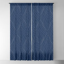 Japanese shibori dark blue indigo sapphire white Blackout Curtain