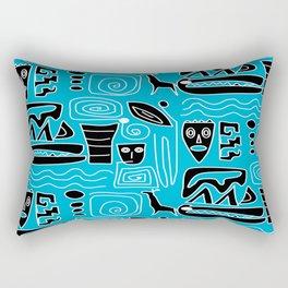 Tribal Blues Rectangular Pillow