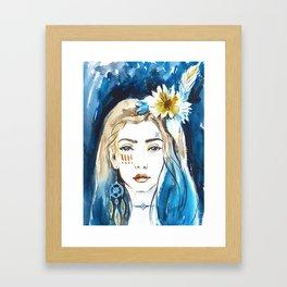 Boho girl Framed Art Print