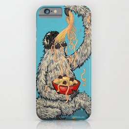 Three Toed Sloth Eating Spaghetti From a Bowl iPhone Case