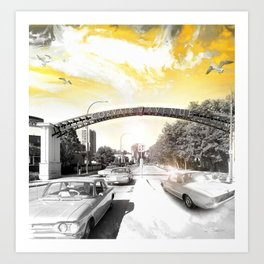 Corvair Avenue Art Print
