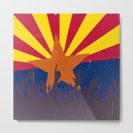 Arizona State Flag with Audience Metal Print